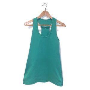 Lululemon long tank top, green, size 10